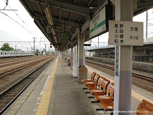 北長野駅の島式ホームその5