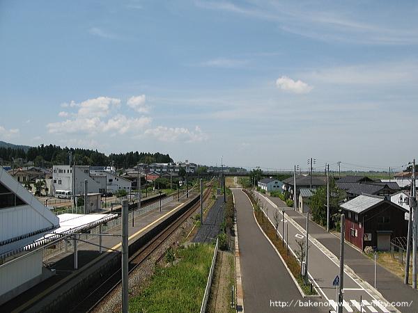 橋上駅舎から見た長岡方