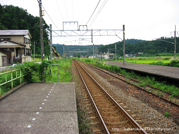 越後広田駅の上りホームその2