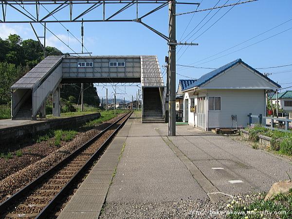 越後早川駅の下りホームその三