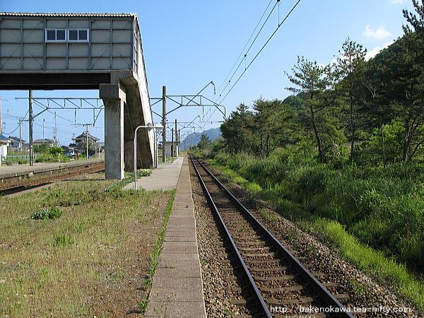 越後早川駅の上りホームその三
