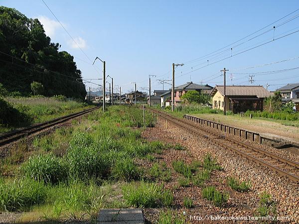 越後早川駅の上りホームその四