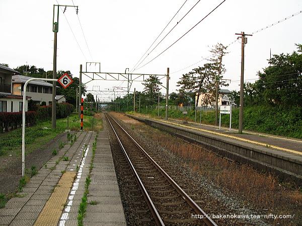 潟町駅の1番線その3