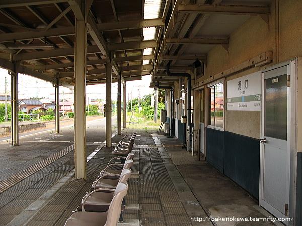 ホームから見た駅舎その3