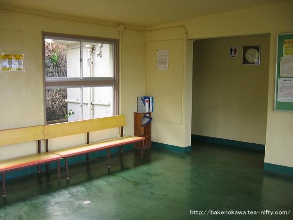 青海川駅の旧駅舎内部その2