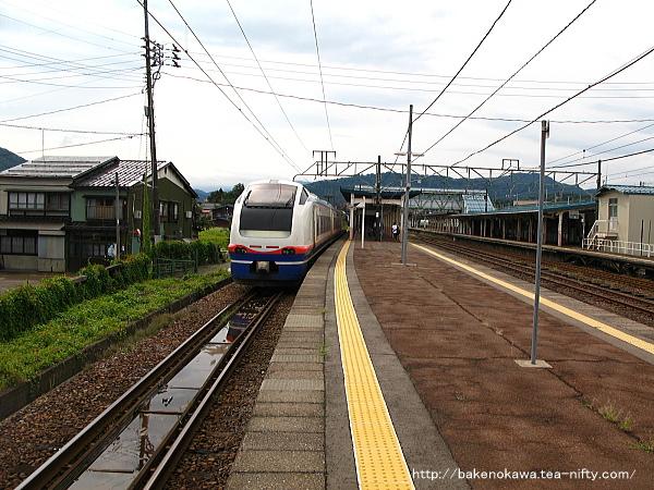 新井駅で待機中のE653系電車特急「しらゆき」その1