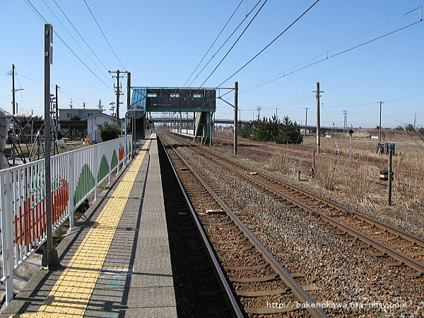 黒山駅の1番線その一