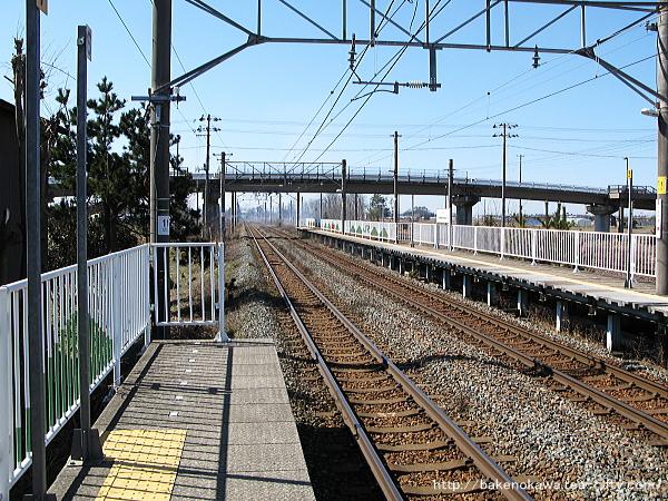 黒山駅の1番線その三