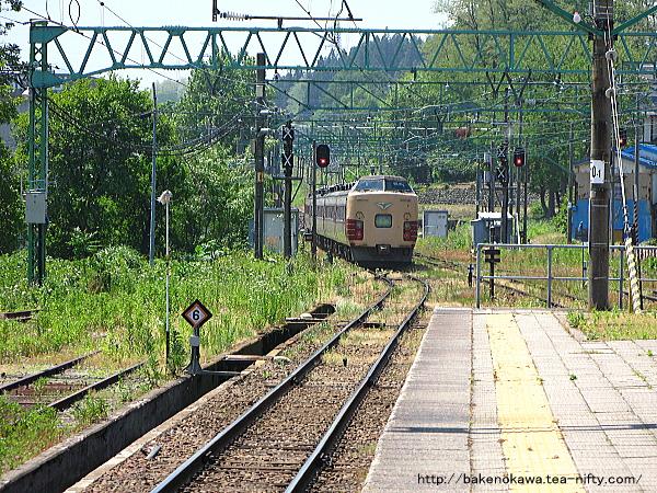 二本木駅を出発した189系電車「妙高」その2
