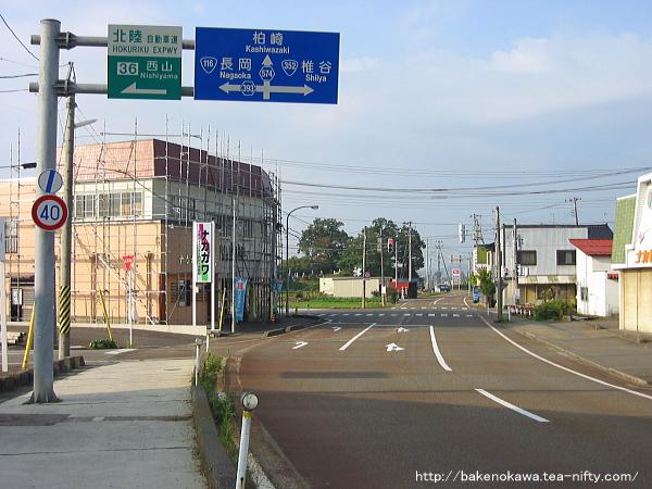 礼拝駅付近の県道