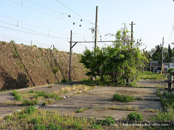 撤去された駅舎跡