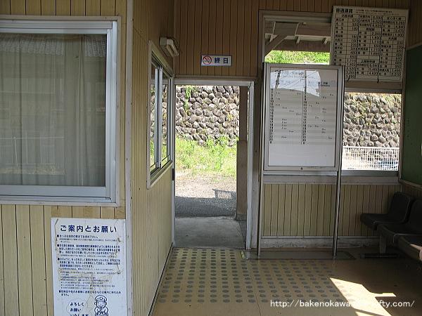 浦本駅駅舎内部