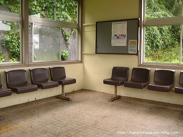 上りホームの待合室