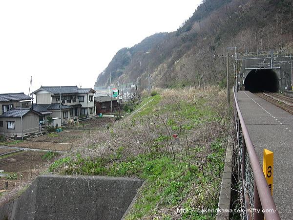 浦本駅の旧線跡