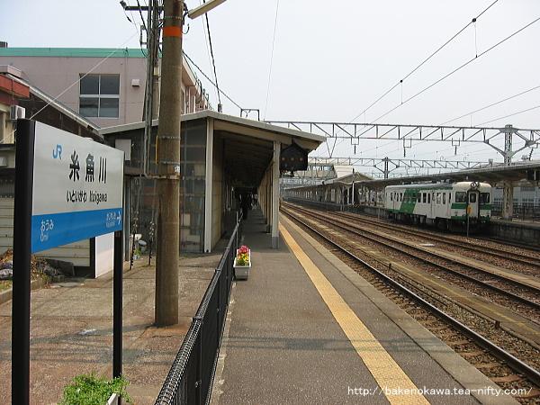 糸魚川駅の1番ホームその1