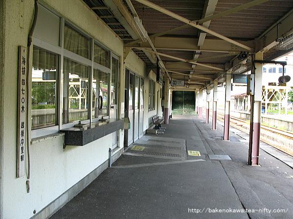 1番ホームから見た駅舎その2