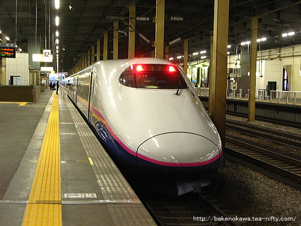 燕三条駅に停車中のE2系新幹線電車「とき」
