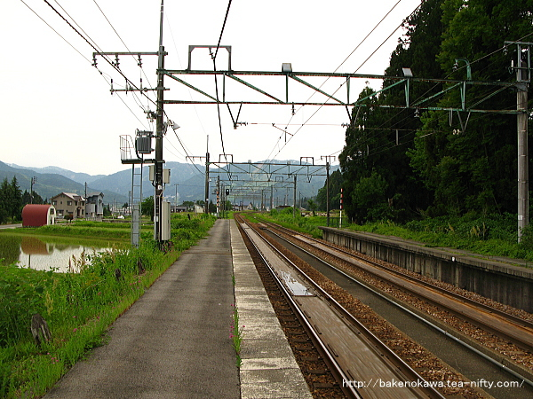 大沢駅の上りホームその2
