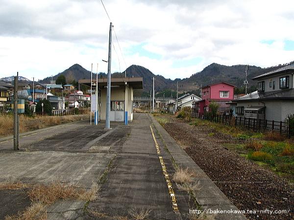 鹿瀬駅の旧島式ホームその5