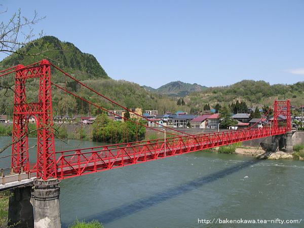阿賀野川に架かる吊り橋その1