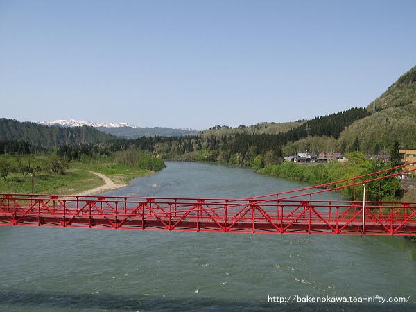 阿賀野川に架かる吊り橋その2