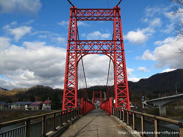 阿賀野川に架かる吊り橋その3