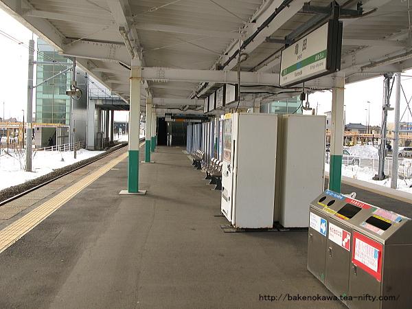 亀田駅の島式ホームその3