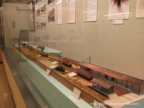 郷土資料館に展示されている蒲原鉄道の鉄道模型