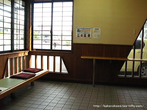 無人化後の待合室内部