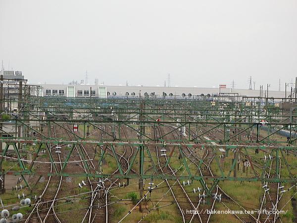 陸橋上から見た直江津駅構内