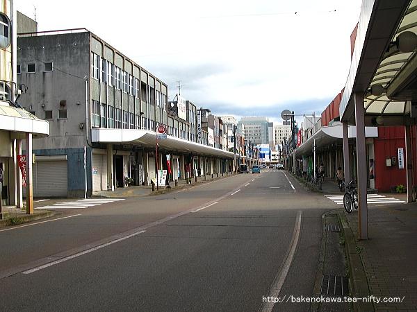 新発田市中心街の様子