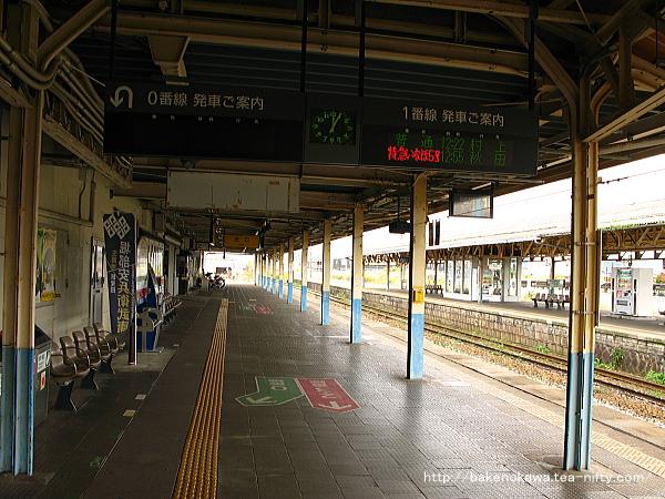新発田駅の1番ホームその一