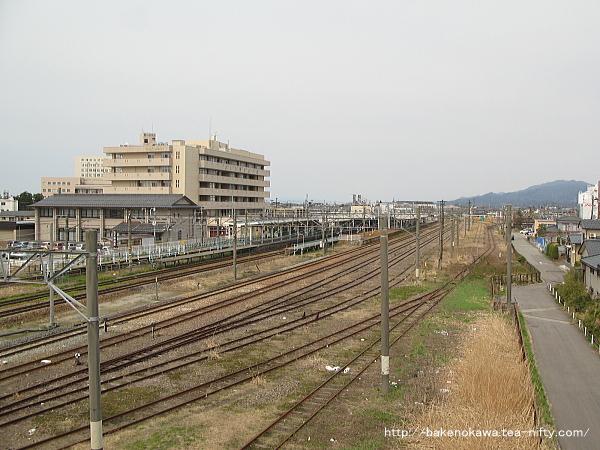 新発田駅東側を俯瞰で見る