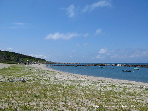 初夏の日和山海水浴場