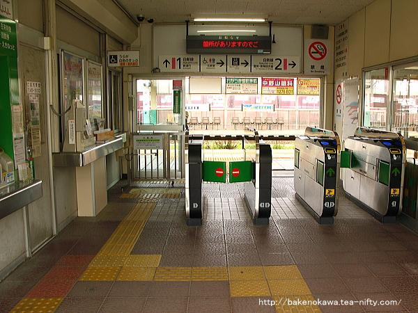 東新潟駅駅舎内部の様子