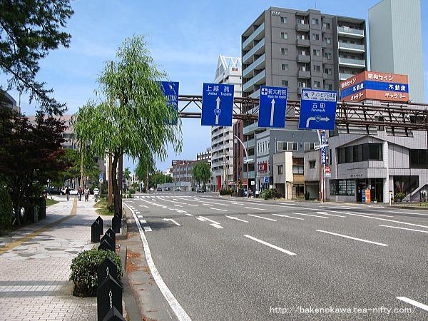 新潟交通電車線白山前駅跡周辺の様子
