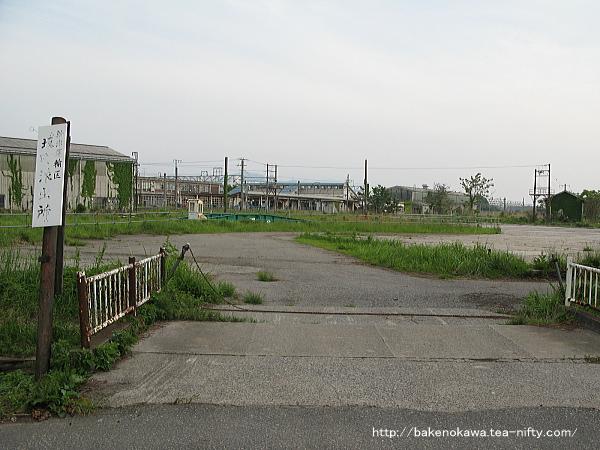 坂町機関区跡