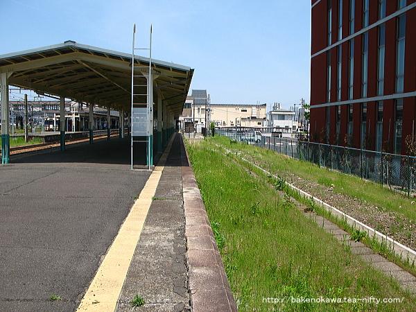 新津駅の0番線跡その1