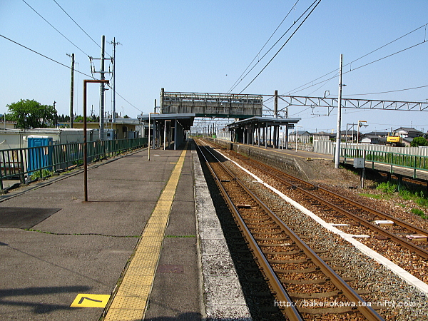 改築工事中の中条駅1番線その二