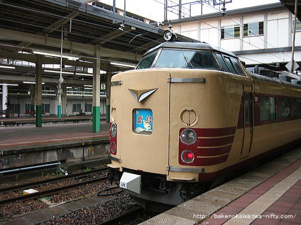 新潟駅で待機中の485系電車臨時特急「ふるさと雷鳥」大阪行その二