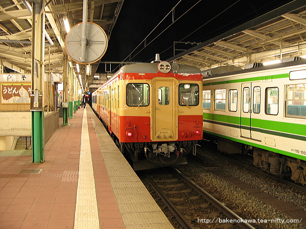新潟駅で待機中のキハ52形気動車その2