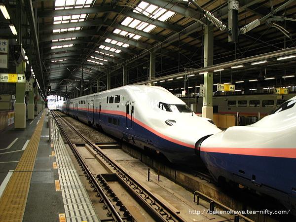 16連で待機中のE4系電車「MAXとき」