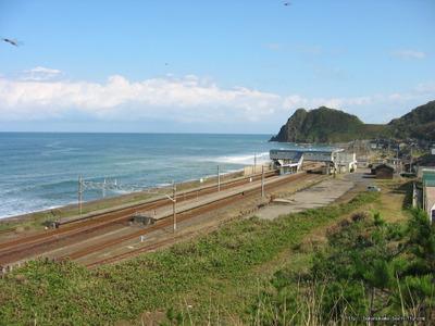 丘の上から見た米山駅