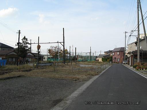 更地になった駅舎跡