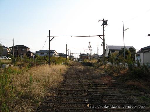 線路撤去後の越後大野駅構内その2