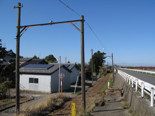 線路撤去後の板井駅跡その3
