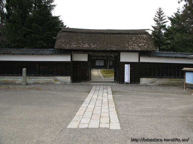 笹川邸表門