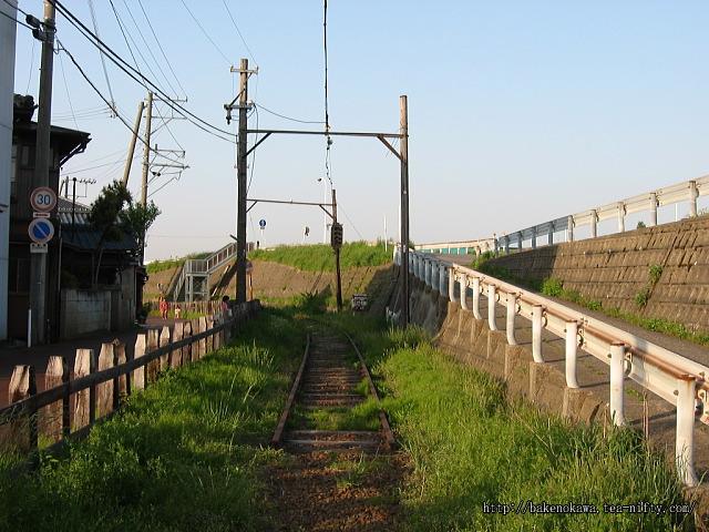白根駅跡以南の廃線跡その2