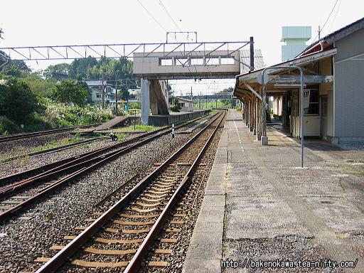 梶屋敷駅の1番線その2
