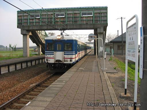 中浦駅を出発するキハ52